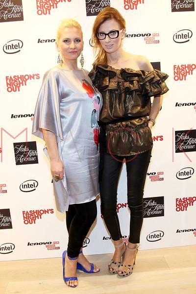 NEW YORK, NY - SEPTEMBER 08:  Liba Drdakova and Caroline at Saks Fifth Avenue on September 8, 2011 in New York City.  (Photo by Steve Mack/Getty Images for Vogue) *** Local Caption *** Liba Drdakova; Caroline