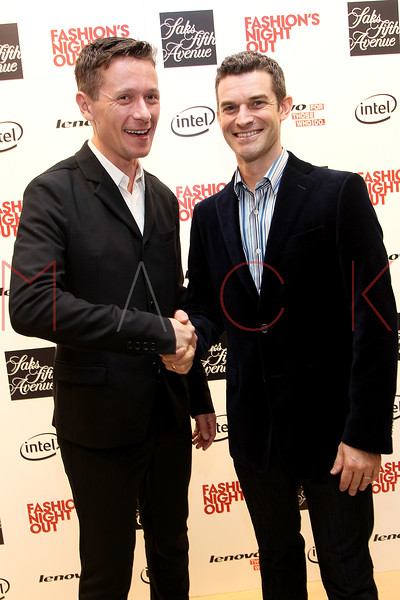 NEW YORK, NY - SEPTEMBER 08:  Alistair Carr and Nick Reynolds at Saks Fifth Avenue on September 8, 2011 in New York City.  (Photo by Steve Mack/Getty Images for Vogue) *** Local Caption *** Alistair Carr; Nick Reynolds