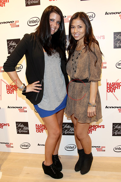 NEW YORK, NY - SEPTEMBER 08:  Meredith Koko and Samantha Lim at Saks Fifth Avenue on September 8, 2011 in New York City.  (Photo by Steve Mack/Getty Images for Vogue) *** Local Caption *** Meredith Koko; Samantha Lim