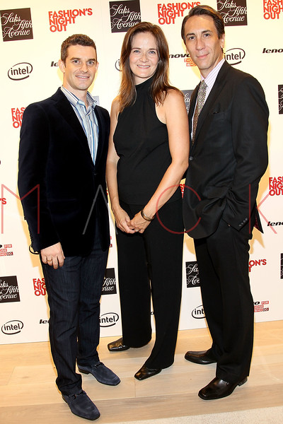 NEW YORK, NY - SEPTEMBER 08:  Nick Reynolds, Enid Graham and Robert Sella at Saks Fifth Avenue on September 8, 2011 in New York City.  (Photo by Steve Mack/Getty Images for Vogue) *** Local Caption *** Nick Reynolds; Enid Graham; Robert Sella