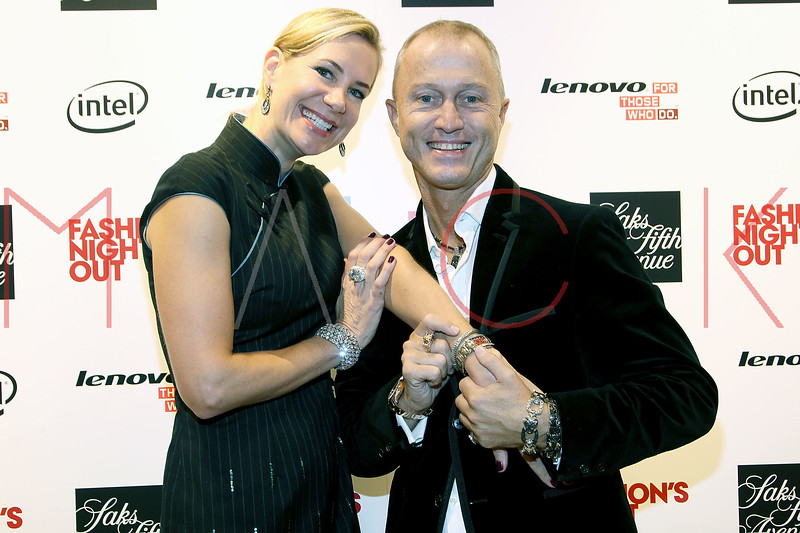 NEW YORK, NY - SEPTEMBER 08:  Tracey Trachta and Guy Bedarida at Saks Fifth Avenue on September 8, 2011 in New York City.  (Photo by Steve Mack/Getty Images for Vogue) *** Local Caption *** Tracey Trachta; Guy Bedarida