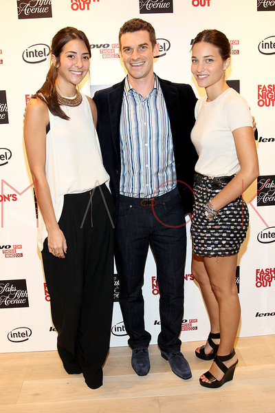 NEW YORK, NY - SEPTEMBER 08:  Madeline Andrews Escudero, Nick Reynolds and Maria Duenas Jacobs at Saks Fifth Avenue on September 8, 2011 in New York City.  (Photo by Steve Mack/Getty Images for Vogue) *** Local Caption *** Madeline Andrews Escudero; Nick Reynolds; Maria Duenas Jacobs