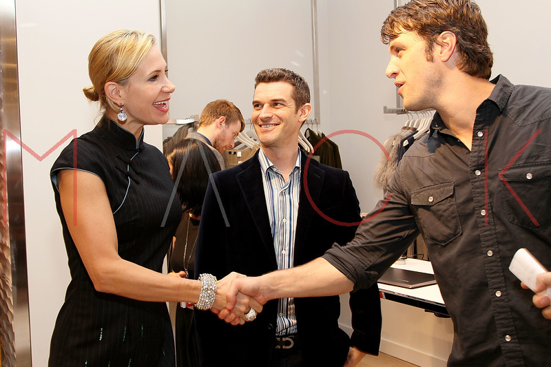 NEW YORK, NY - SEPTEMBER 08:  Tracey Trachta, Nick Reynolds and Shane McRae at Saks Fifth Avenue on September 8, 2011 in New York City.  (Photo by Steve Mack/Getty Images for Vogue) *** Local Caption *** Tracey Trachta; Nick Reynolds; Shane McRae