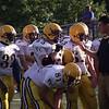 Coach Rich providing instruction! Jay Davis (32), Bob Corcoran (65), Corey Carr (81), Aaron Wooden (63), Mitch Newhouse (71), Mickey Losey (7).