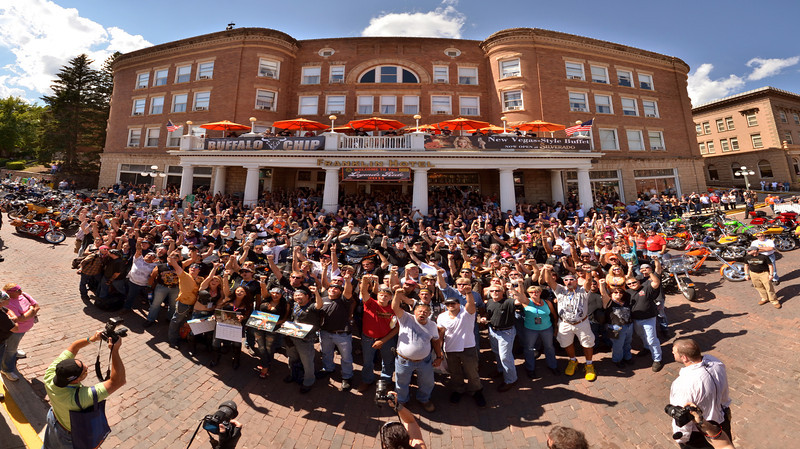 2011 Legends Ride Group Photo <br /> Franklin Hotel<br /> Deadwood , SD