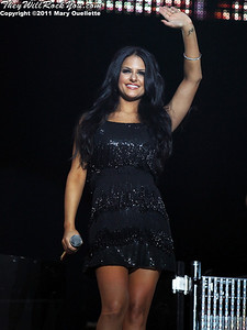 Pia Toscano performs at American Idols Live! at the DCU Center on September 1, 2011 in Worcester, Massachusetts