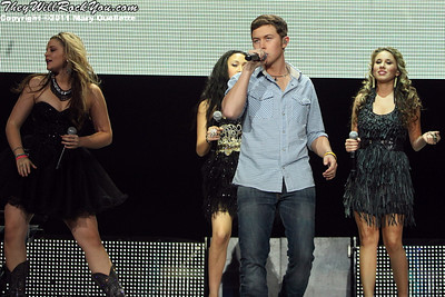 Scotty McCreery performs at American Idols Live! at the DCU Center on September 1, 2011 in Worcester, Massachusetts