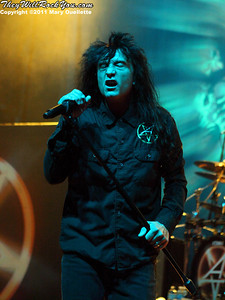 Anthrax perform on November 11, 2011 at The Palladium in Worcester, MA