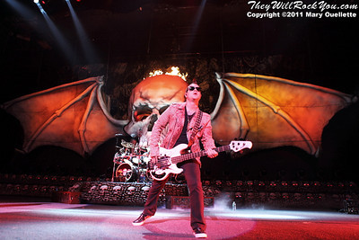 Avenged Sevenfold perform on August 30, 2011 on the Rockstar Energy Drink UPROAR Festival at the Comcast Center in Mansfield, Massachusetts