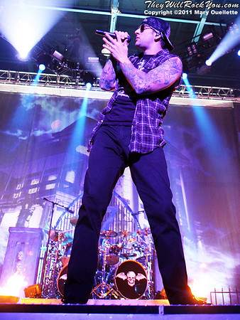 "Avenged Sevenfold perform on January 22, 2011 in support of their ""Nightmare After Christmas Tour"" at The Tsongas Center in Lowell, Massachusetts"