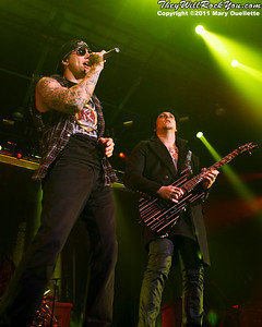 """Avenged Sevenfold perform on January 22, 2011 in support of their """"Nightmare After Christmas Tour"""" at The Tsongas Center in Lowell, Massachusetts"""