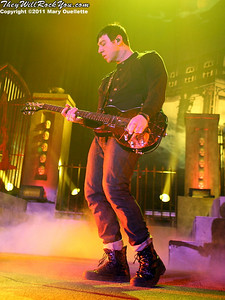 """Zacky Vengeance of Avenged Sevenfold performs on January 22, 1011 in support of their """"Nightmare After Christmas Tour"""" at The Tsongas Center in Lowell, Massachusetts"""
