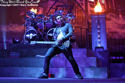 Avenged Sevenfold perform at the Mass Mutual Center in Springfield, MA on May 3, 2011