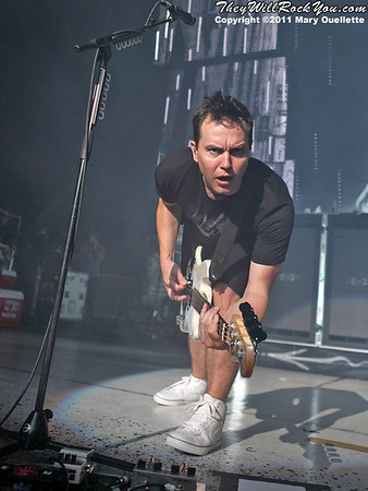 Blink-182 perform on the 2011 Honda Civic Tour on August 9, 2011 at the Comcast Center in Mansfield, MA