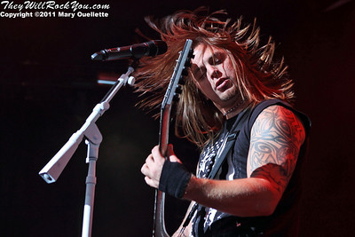 Bullet for my Valentine perform on August 30, 2011 on the Rockstar Energy Drink UPROAR Festival at the Comcast Center in Mansfield, Massachusetts
