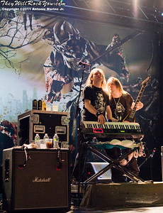 """Children of Bodom perform on July 16, 2011 during their """"The Ugly World Tour"""" at the Best Buy Theatre in New York City, New York."""