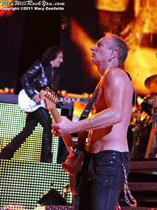 """Def Leppard performs on June 30, 2011 during the """"Mirrorball Tour"""" at the Comcast Center in Mansfield, Massachusetts."""