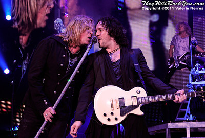Sep 10, 2011, Irvine, CA, USA - Joe Elliott and Vivian Campbell of Def Leppard, perform in support of the bands latest release Mirror Ball at the Verizon Wireless Amphitheater for the 6th annual 93.1 Jack FM show.
