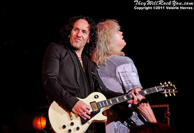 Sep 10, 2011, Irvine, CA, USA - Vivian Campbell and Rick Savage of Def Leppard, perform in support of the bands latest release Mirror Ball at the Verizon Wireless Amphitheater for the 6th annual 93.1 Jack FM show.