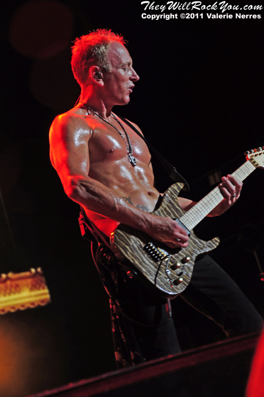 Sep 10, 2011, Irvine, CA, USA - Phil Collen of Def Leppard, performs in support of the bands latest release Mirror Ball at the Verizon Wireless Amphitheater for the 6th annual 93.1 Jack FM show.