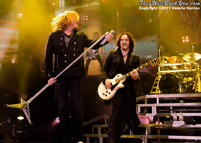 Sep 10, 2011, Irvine, CA, USA - Def Leppard, performs in support of the bands latest release Mirror Ball at the Verizon Wireless Amphitheater for the 6th annual 93.1 Jack FM show.