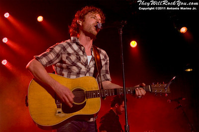 Dierks Bentley and his band perform on March 25, 2011 during the The Jagermeister Country Tour in Poughkeepsie, NY