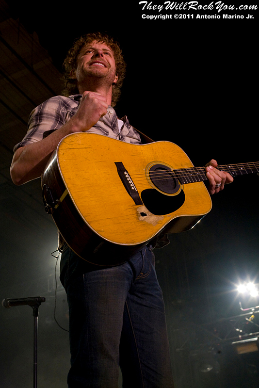 Dierks Bentley perform on March 25, 2011 during the The Jagermeister Country Tour 2011 in Poughkeepsie, NY