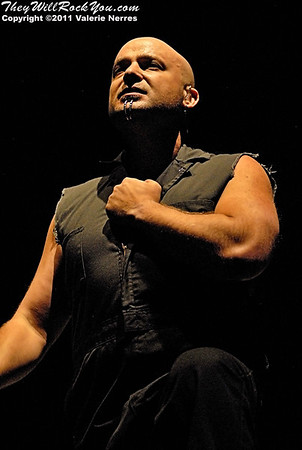 Jul 09, 2011, San Bernardino, CA, USA - David Draiman, lead vocalist for Disturbed performs during the Mayhem Festival held at San Manuel Amphitheater in San Bernardino.