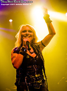 Doro Pesch kicks off her 25th anniversary tour at the Gramercy Theatre, New York, NY. September 9, 2011