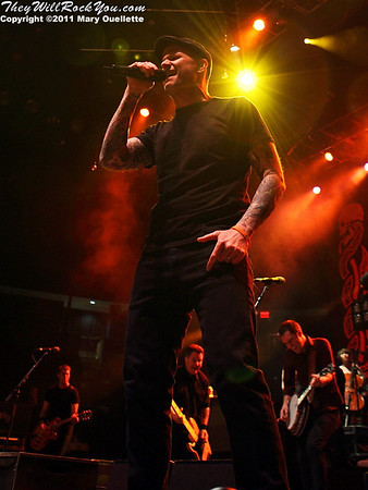 The Dropkick Murphys play at The Tsongas Center in Lowell, MA on March 19, 2011
