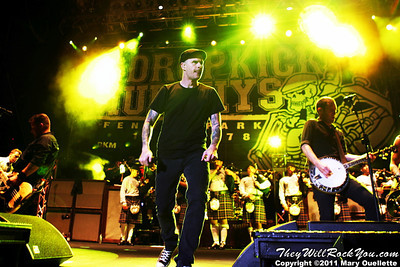 Dropkick Murphys perform on September 8, 2011 at Fenway Park in Boston, Massachusetts