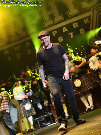 Al Barr of Dropkick Murphys performs on September 8, 2011 at Fenway Park in Boston, Massachusetts
