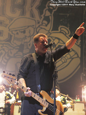 Ken Casey of Dropkick Murphys performs on September 8, 2011 at Fenway Park in Boston, Massachusetts