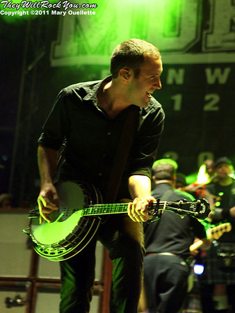Jeff DaRosa of Dropkick Murphys performs on September 8, 2011 at Fenway Park in Boston, Massachusetts
