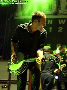 Jeff DaRosa of Dropkick Murphys performs on September 8, 2011 at Fenway Park in Boston, Massachusetts