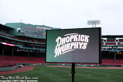 Dropkick Murphys perform on September 8, 2011 at Fenway Park in Boston, Massachusetts
