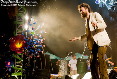 "Alex Ebert of Edward Sharpe and the Magnetic Zeros performs on August 6, 2011 at the ""Escape to New York"" music festival at the Shinnecock Indian Reservation, Southampton, NY."