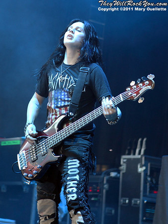Escape the Fate perform at Uproar Festival on August 30, 2011 at Comcast Center in Mansfield, MA