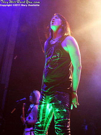 Escape The Fate perform at The Palladium in Worcester, MA on February 12, 2011