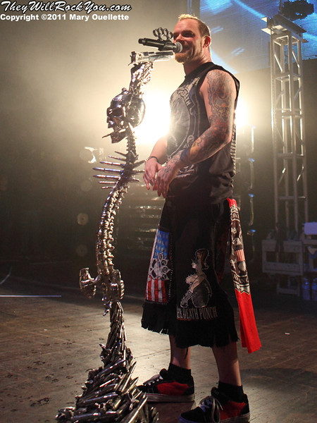 Five Finger Death Punch Headline the 'Share the Welt' tour at The Palladium in Worcester, MA on November 30, 2011