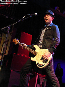 Nathen Maxwell of Flogging Molly performs during their 7th Annual Green 17 Tour on February 27, 2011 at the House of Blues in Boston, Massachusetts