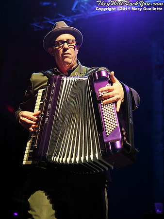 Matt Hensley  of Flogging Molly performs during their 7th Annual Green 17 Tour on February 27, 2011 at the House of Blues in Boston, Massachusetts