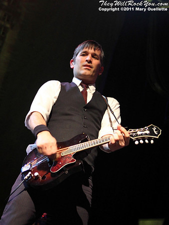 Robert Schmidt of Flogging Molly performs during their 7th Annual Green 17 Tour on February 27, 2011 at the House of Blues in Boston, Massachusetts