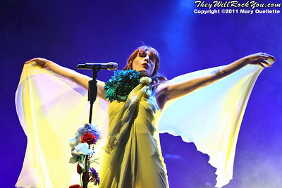 Florence and the Machine perform on June 23, 2011 at the Bank of America Pavilion in Boston, MA