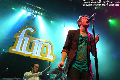 fun. perform on May 22, 2011 at the House of Blues in Boston, Massachusetts