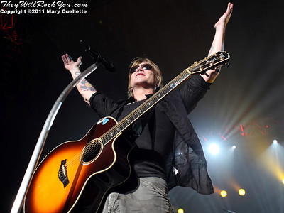 Goo Goo Dolls perform at the Bank of America Pavilion in Boston, MA on July 19, 2011.