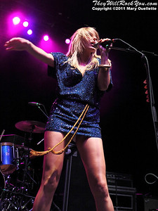 Grace Potter and the Nocturnals perform at the Bank of America Pavilion in Boston, MA on August 20, 2011