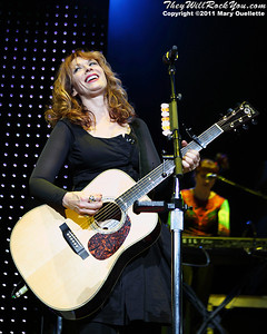 Nancy Wilson of Heart performs on June 30, 2011 at the Comcast Center in Mansfield, Massachusetts.