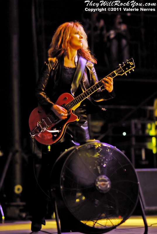 Sep 10, 2011, Irvine, CA, USA - Nancy Wilson, from Heart, performs at Verizon Wireless Amphitheater in Irvine for the Jack FM 93.1 6th Annual show.