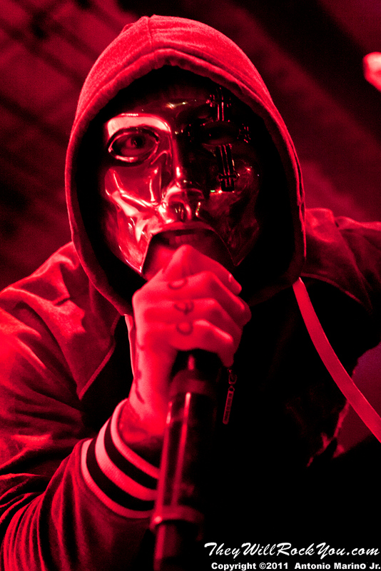 "Danny of Hollywood Undead performs on November 12, 2011 during the ""World War III"" tour at the Mid-Hudson Civic Center in Poughkeepsie, NY"